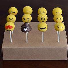 Emoji Cake Pops http://www.jamiessweetrevenge.com