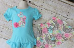 Girls Easter Shirt Easter Bunny Applique by ThePinkRoseBoutique
