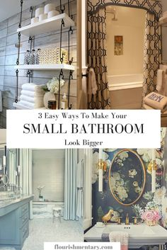 **TINY** Bathroom? Make it look bigger and brighter with these 3 easy tips! No big renovations required!