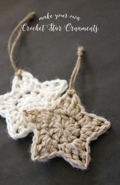 Crochet star ornaments - get your free patternn ☂ᙓᖇᗴᔕᗩ ᖇᙓᔕ☂ᙓᘐᘎᓮ http://www.pinterest.com/teretegui
