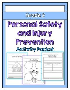 {Grade Personal Safety and Injury Prevention Activity Packet This activity packet is aligned with the 2015 Ontario Grade 2 Health and Physical Education curriculum expectations. Physical Education Curriculum, Health And Physical Education, Health Class, Health Lesson Plans, Health Lessons, Dr Oz, Ontario Curriculum, Health Activities, Creative Activities