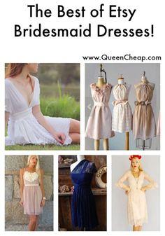 The Best Etsy Bridesmaid Dresses that won't break the bank! Bohemian Beach Wedding, Bridesmaid Dresses, Good Things, Etsy, Tops, Design, Bride Maid Dresses, Shell Tops, Bridal Party Dresses