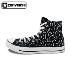 155.00$  Watch now - http://ali8la.shopchina.info/1/go.php?t=32606855536 - Classic Original Converse All Star Minim Musical Note Design Hand Painted Shoes Man Woman Sneakers Men Women Christmas Gifts  #aliexpress