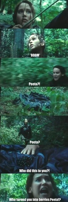funny Katniss Peeta Hunger Games Idk exactly why this made me laugh so hard! Hunger Games Humor, Hunger Games Fandom, The Hunger Games, Hunger Games Catching Fire, Hunger Games Trilogy, Katniss And Peeta, Katniss Everdeen, Suzanne Collins, Juegos Del Ambre