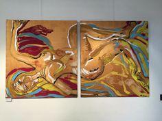 La caduta- olio e acrilico su tela -2/100x100 cm- 2006