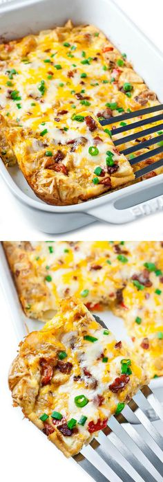 This easy Cheesy Roasted Potato Breakfast Bake is a tasty way to sneak veggies into your breakfast! Served up casserole style, it's great for holidays or a brag-worthy brunch with family and friends.