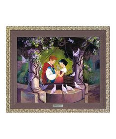 Look at this #zulilyfind! Snow White The Wishing Well Framed Limited Edition Canvas Print #zulilyfinds