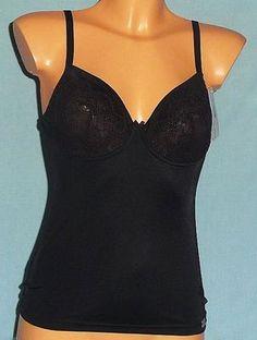 EVA Naturana BH-Hemd mit Bügel figurbetont perfekte Passform Wohlgefühl schwarz € 19,95