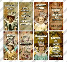 Digital Collage Sheet 1 X 2 inch Domino Sized by lisasalteredart, $2.00