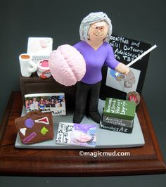 Neurologist's Custom Made Gift www.magicmud.com 1 800 231 9814 magicmud@magicmud.com $225 Personalized #Medical Gift Figurines, custom created just for you! Perfect present for all #Doctors, a heartfelt gift for birthdays, graduations, anniversaries, new office openings, retirement, as a thank you to a great #physician Surgeon, cardiologist, therapist, nurse, ob-gyno, podiatrist, psychiatrist, nephrologist, urologist, radiologist, any occupation made to to order by #magicmud Christmas Gift For Dad, Personalized Christmas Gifts, Custom Made Gift, Gifts For Dentist, Doctor Gifts, Graduation Gifts, Doctors, Gifts For Dad, Girlfriends