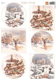 Marianne Design Bilderbogen , Mattie`s schönste Winter 3d Christmas, Christmas Stickers, Christmas Printables, Christmas Pictures, Illustrations Vintage, Decoupage Glass, Wire Jewelry Designs, Mini Albums Scrap, 3d Sheets