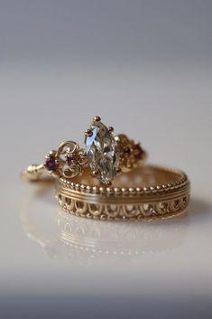 Unique Vintage Shiny Bronze Art Deco Harlequin Zircon Ring Women Rings