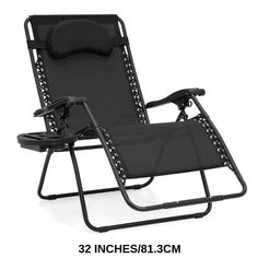 Best Choice Products Oversized Zero Gravity Outdoor Reclining Lounge Patio Chair w/Cup Holder - Black - Great product and price.This Best Choice Patio Lounge Chairs, Camping Chairs, Beach Chairs, Outdoor Chairs, Dyi, Beach Patio, Land Scape, Recliner, Decks