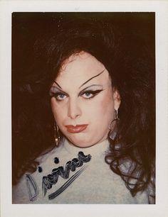 Divine, 1974. Andy Warhol @Polaroid