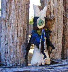 EVIL EYE PROTECTION elk bone Vase Shaman shamanic by pradoleather