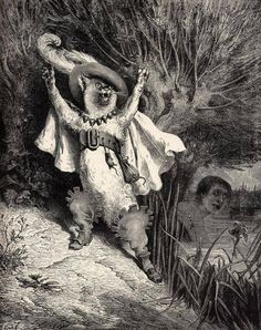 Puss in Boots, illustrated by Paul Gustave Doré (1832-1883)