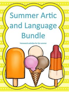 A great articulation and language bundle for 8 weeks of summer homework! Repinned by SOS Inc. Resources pinterest.com/sostherapy/.