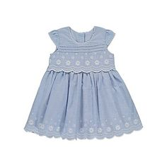 Scallop Trim Embroidered Dress | Baby | George at ASDA