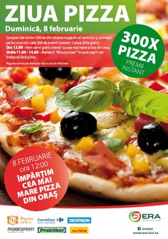Cea mai mare pizza din oras, la Era Shopping Park Pizza, Oras, Delicious Food, Love Food, Crockpot, Slow Cooker, Cocktail, Recipes, Shopping