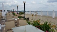 Dzień dobry.  Przerwa kawowa... #plażasopot #brzeg #pochmurnyporanek #chmury #plaża