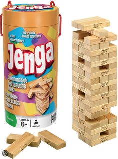 Have you ever played the game Jenga? My second counselor in Young Women is an awesome woman! She planned this fun.