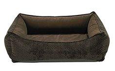 Oslo Chocolate Bones Memory Foam Bed ~ Senior Dog Comfort | Dog Bed Works
