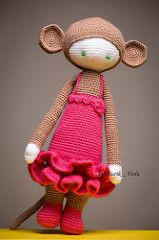 Lalylala monkey (Shurik_Viola) Tags: pink brown wool animal rose children toy monkey beige doll child dress handmade tail crochet craft plush yarn plushies creation queue handcrafted amigurumi marron enfant homedecor handwork jouet artisan dcoration cuddlytoy objets peluche singe sources laine activits artisanat clairage faune cration personnages faitmain mammifres faitmaison lumireartificielle dressedtoy profotod1air500 modeleurs lalylala matrieldedivertissement acquisitionimages…