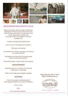 Konfirmations menu 2016