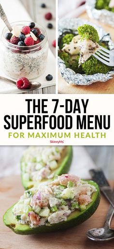 The 7-day superfood menu for optimal health will set you on the path to healthier eating habits. The recipes in this menu are packed with protein, healthy fats, fiber, complex carbs, vitamins, and minerals.
