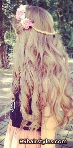 cute long curly hairstyle - 99 Hairstyles Ideas