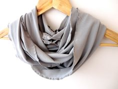 Items similar to Mothers day gift infinity scarf spring summer gray jersey scarf women infinity scarf eternity scarves scarfstrends on Etsy Valentine Day Gifts, Valentines, Men Scarf, Fall Trends, Neck Warmer, Scarfs, Womens Scarves, Cowl, Mothers