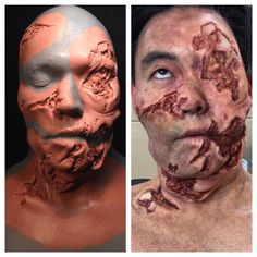 """@ekoostudio sculpted and wore his own design. This silicone @rbfx prosthetic is available through @motionpicturefx. Makeup application & mould by…"""