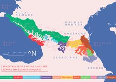 Maps on the Web — Ethnic groups of the Caucasus before and after the...