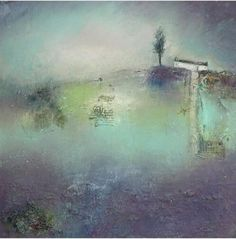 House Landscape, Sheds, Northern Lights, Abstract Art, Landscapes, Lisa, Houses, Nature, Painting