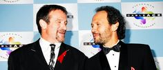 Robin Williams and Billy Crystal during 1994 Cable Ace Awards in Los Angeles, California, United States.