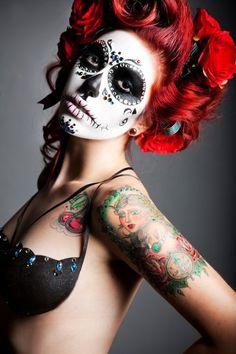 50 Sugar Skull makeup ideas - Skullspiration.com - skull designs, art, fashion and moreSkullspiration.com – skull designs, art, fashion and more
