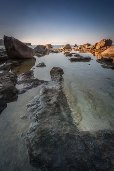 Golden light on the rocks by Andrea Papaleo on 500px