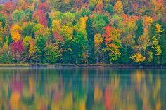 Adirondacks NY | Fall Color Reflection, Franklin Falls Pond, Adirondacks, New York