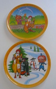 Vintage McDonalds Plastic Plates Set of Two by VintageReinvented #shopping #restaurantware