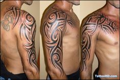 Tribal Shoulder Sleeve Tattoos