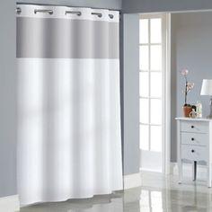 Hookless Stripe Jacquard Shower Curtain - BedBathandBeyond.com