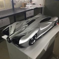 Chevrolet electric supercar by Jimmy Fan @jimmyfansm from China Academy of Art #cardesign #car #design #clay #claymodel #cnc #cncmilling #3dprinting #chevrolet #supercar #degreeshow #china