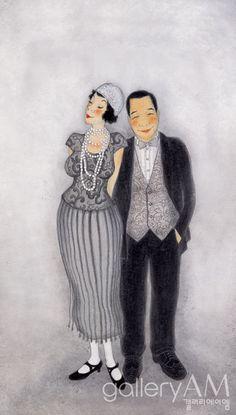 #Oriental painting - Husband and wife 2004, Youk Shim-won