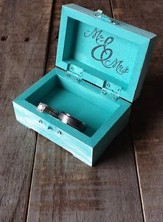 Ring Bearer Box  Personalized Rustic Ring Pillow by LoRustique