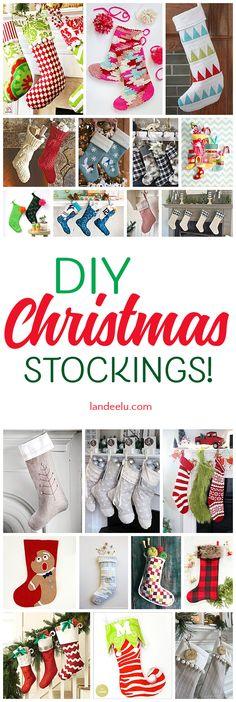 Make your Christmas stockings yourself to make them extra special!