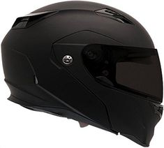 Bell Revolver Evo Modular Motorcycle Helmet (Solid Matte Black, Large) – MyBike Helmet shown with optional tinted shield. Ships with clear shield only Aerodynamic Polycarbonate/ABS Composite Shell, Drop Down Inner Shield Click Release Shield System -The Fastest, Easiest, Tool-Free Shield Swaps Ever Communications Ready - Integrated Speaker Pockets, Magnefusion Strap Keeper Industry-leading Five-year.DOT approved. Meets the FMVSS 218 Standard