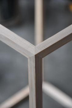 Japanese miter joints. Deal wood.