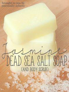 Jasmine Dead Sea Salt Soap & Body Scrub via Essentially Eclectic #soapmaking #bodyscrub