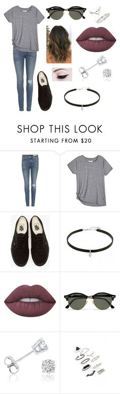 """Untitled #302"" by fashion-with-dudette on Polyvore featuring rag & bone, Vans, Lime Crime, Ray-Ban, Amanda Rose Collection and Topshop"