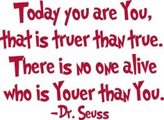 Today You are You Dr. Seuss vinyl wall by madebytheresarenee, $8.99